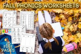 Say a sound and children identify the correct letter(s) by circling/colouring. Fall Phonics Worksheets Free Word Work
