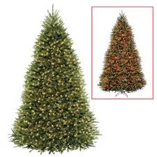 National Tree Company 10 ft. Dunhill Fir Artificial Christmas Tree with  Dual Color LED Lights