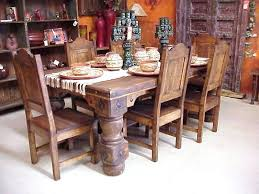 image rustic mexican furniture. Rustic Mexican Pine Furniture Dining Table And Chairs Wood Corona 6 Image P