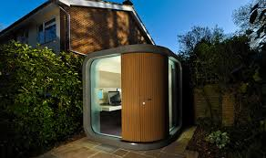 Outdoor office pod Modern It Is No Secret That More And More Employees Are Choosing To Work From Home As Remote Connectivity Becomes More Accessible However Not All Employees Have The Channelpro Network Outdoor Workfromhome Office Environments For Remote Employees