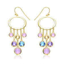 full size of lighting stunning multi colored chandelier earrings 18 collette z cz sterling silver gold