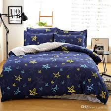 cars full size bedding navy blue color stars printed twin full queen king size bedding set