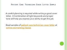2 patient care technician cover letter tech cover letter