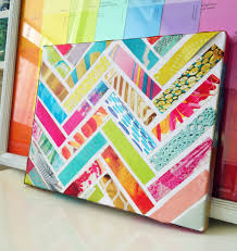This is a great way to use canvases that were slightly damaged! Small art  project - strips of magazines glued to a canvas or stripes of paper from a  craft ...