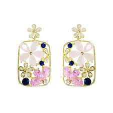 2019 Fashion <b>Wedding</b> Jewelry For Women <b>Bling CZ Stone</b> Flowers ...