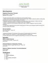 Gallery Of Respiratory Therapist Resume Examples