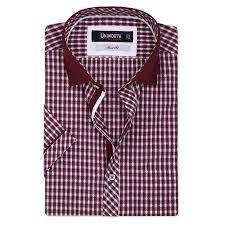 Half Shirt Design Image Red And White Printed Half Sleeve Designer Shirt