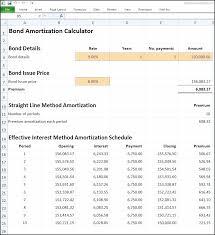 Excel Amortization Spreadsheet Bond Amortization Calculator V D