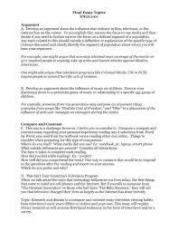 Example Essays Topics Final Essay Topics Engl1101 Argument A Develop An Argument