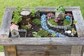 fairy garden box wood planter box