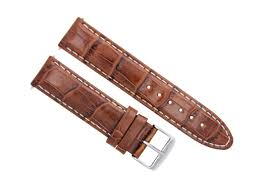 details about 24mm leather watch strap band for omega aqua terra railmaster l brown tan ws 5