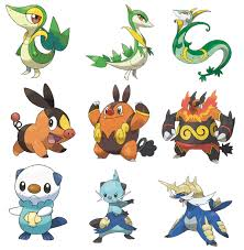 Pokemon Starter Evolution Chart Nintendo Did Very Good With The New Region Black