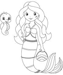 free coloring pages of mermaids. Fine Coloring Mermaid Coloring Pages Free Mermaids  With Regard To Little  Of E