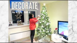 DECORATE WITH ME | CHRISTMAS TREE HOW TO | WHITE & SILVER DECOR