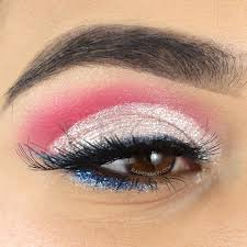 this easy 4th of july makeup tutorial incorporates a lot of glitter and a red white