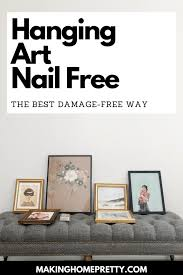 best way to hang pictures without nails