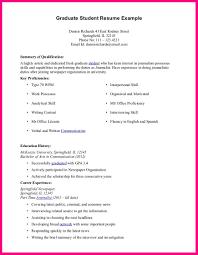 7 Graduate Student Cv Example