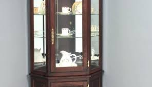 corner curio cabinet used cabinets for oak cherry wood