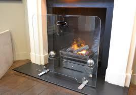 flat glass fire screen