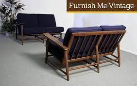 Mid Century Modern Heywood Wakefield 2 Piece Sectional Sofa