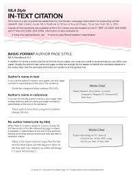 Mla Format For Intext Citations Sample Text Citation Mla Templates At Allbusinesstemplates