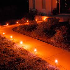 orange pathway lights 10 count