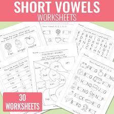 Short Vowels Worksheets - Short Vowel Sounds - Easy Peasy Learners