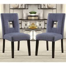 parsons dining chairs upholstered. Maldives Open Back Blue Upholstered Parsons Dining Chairs (Set Of 2) E