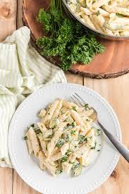 zucchini cream cheese pasta an