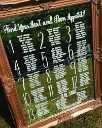Wedding Seating Chart Mirror Calligraphy Wedding Signs