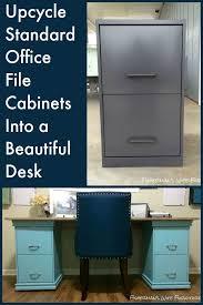 diy home office. DIY Filing Cabinet Desk Diy Home Office
