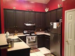 red kitchen walls rustoleum black cabinet transformations red wall paint savannah
