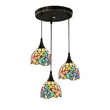 Tiffany Style Kitchen Lights Topdeng Tiffany Style 3 Lights Pendant Light E26 Hanging