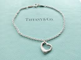 authentic tiffany and co sterling silver elsa peretti open heart bracelet