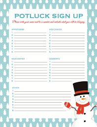 Pot Luck Sign Up Sheet - April.onthemarch.co
