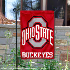 com college flags and banners co ohio state buckeyes garden flag sports outdoors