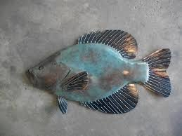 metal fish wall art sculpture