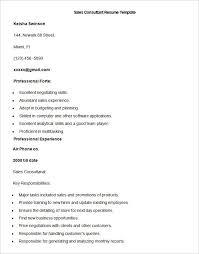 Sample Sales Consultant Resume Template Write Your Resume Much Custom Resume Sales Consultant