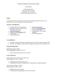 Resume For Hotel Front Desk Receptionist Sample 13 11 2017 16 Sevte