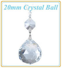 20 pcs lot 20mm clear crystal fengshui ball bead glass chandelier parts glass lamp prism