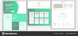 Website Design And Development Contract Template Website Template Vector Page Business Background Landing