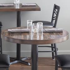 lancaster table seating 30 round recycled wood butcher block table top with espresso finish