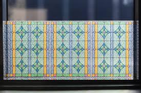 Fensterfolie Sichtschutz Abbey Bunt Glasdekorfolie Statisch Vintage