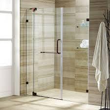 the shower door new vigo pirouette 48 inch frameless shower door 3 8 clear glass oil