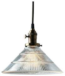 ribbed glass pendant light pendant light fixture clear glass ribbed glass cone shade industrial pendant lighting
