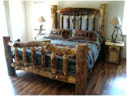log furniture bedroom sets king set size rustic aspen