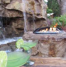 hand crafted outdoor fireplace