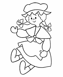 Pre K Coloring Pages Rag Doll Color Sheets Kids On Printable Posh ...