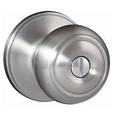 Door Knobs defiant door knobs : Defiant Hartford Satin Nickel Privacy Bed/Bath Door Knob-TGX210 ...