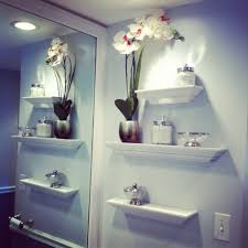 Bathroom  Bathroom Shelving Ideas For Towels Cool Features - Modern bathroom shelving